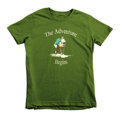 The Adventure Begins -  kids t-shirt