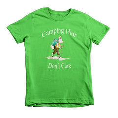 Camping Hair, Don't Care kids t-shirt