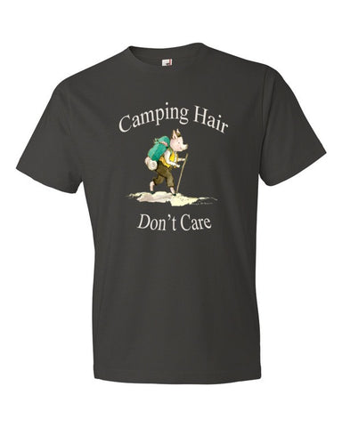 Camping Hair, Don't Care. Men's t-shirt