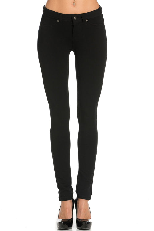 Stretch Skinny Knit Jegging Pants (Black)