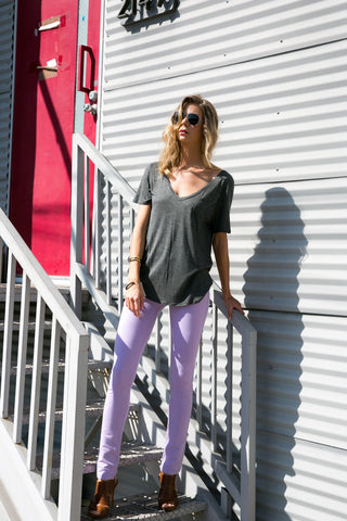 Lilac Colored Knit Pants