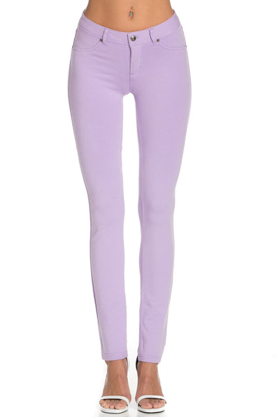 Lilac Colored Knit Pants - Poplooks