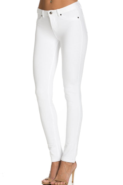 Embellished Stretch Skinny Knit Jegging Pants (Heart) - Poplooks