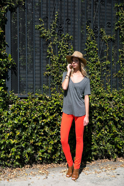 Poplooks 511S / Orange Knit Skinny