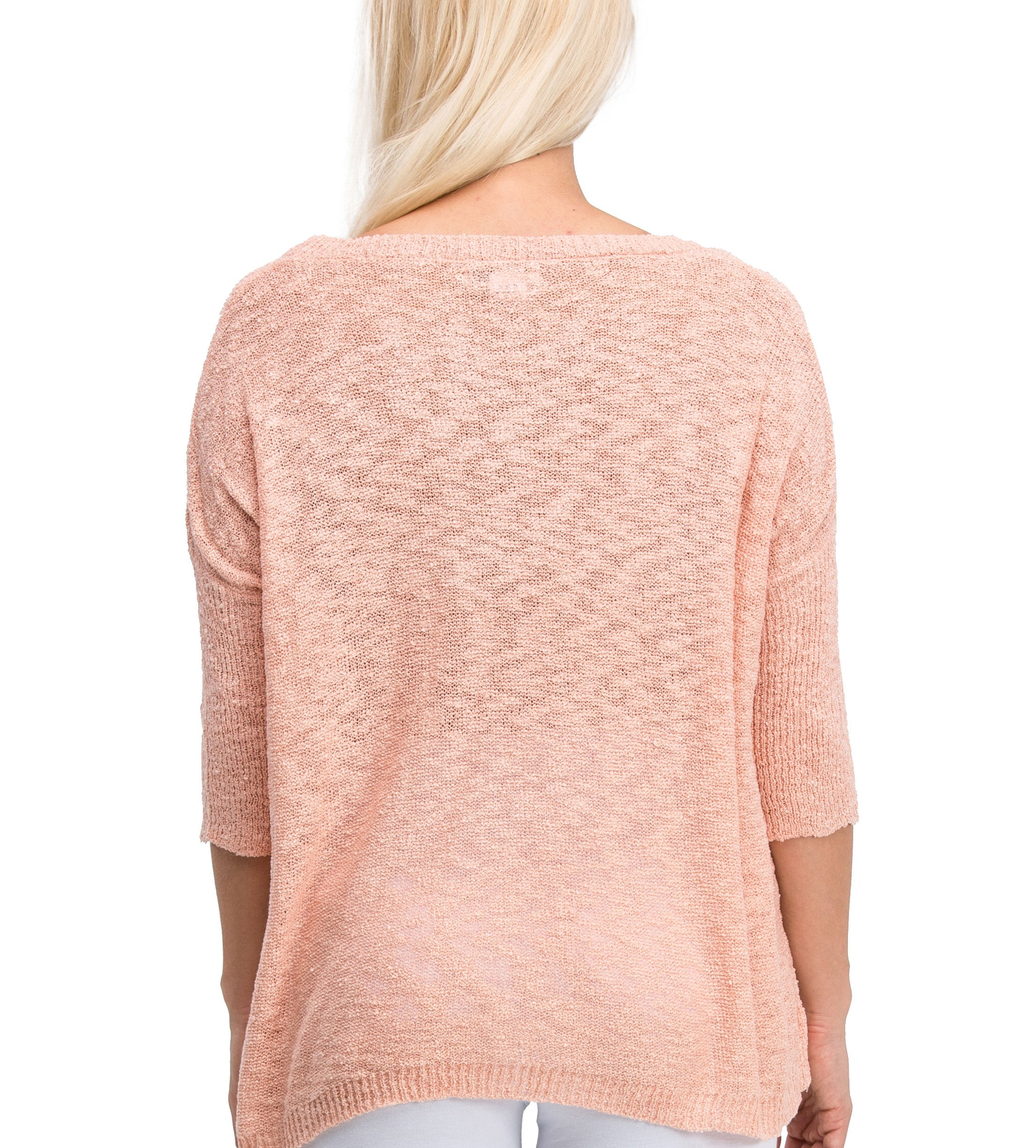 Comfy Casual Elegant Lightweight Sweater Dress (Pink) - Poplooks