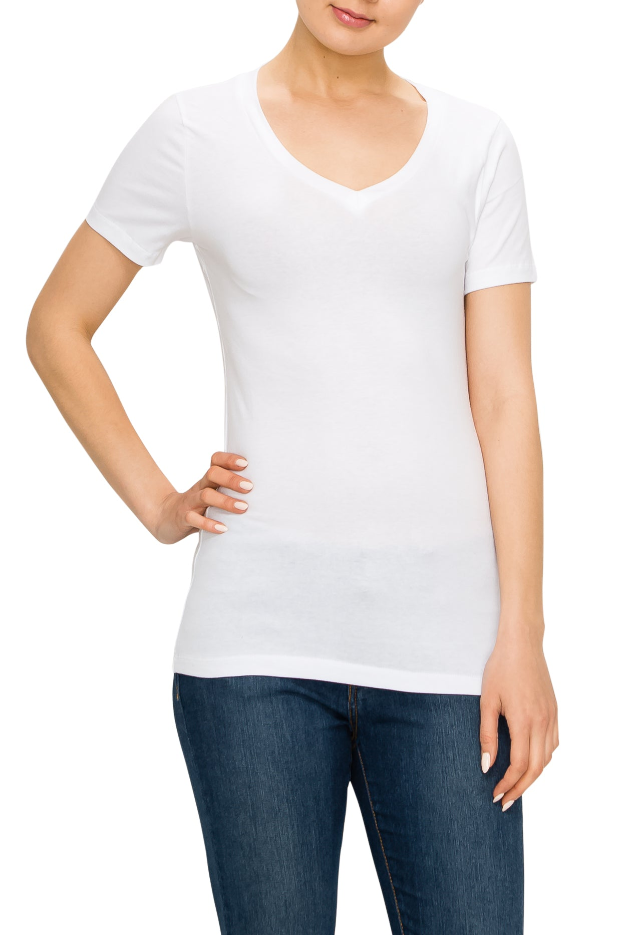 Short Sleeve T-Shirt Top (4 Pack) - Poplooks