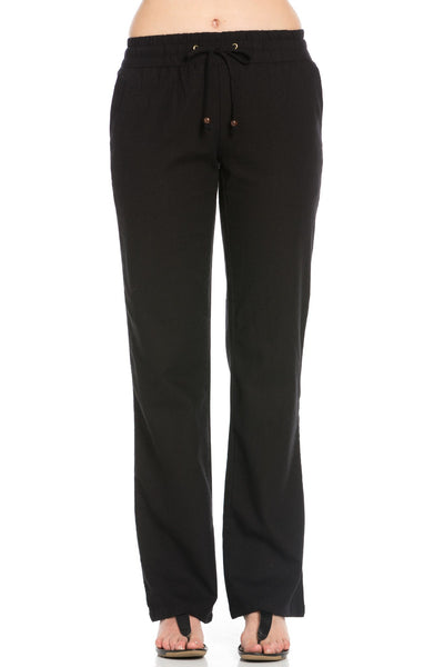 Black Linen Trousers w/ Draw String