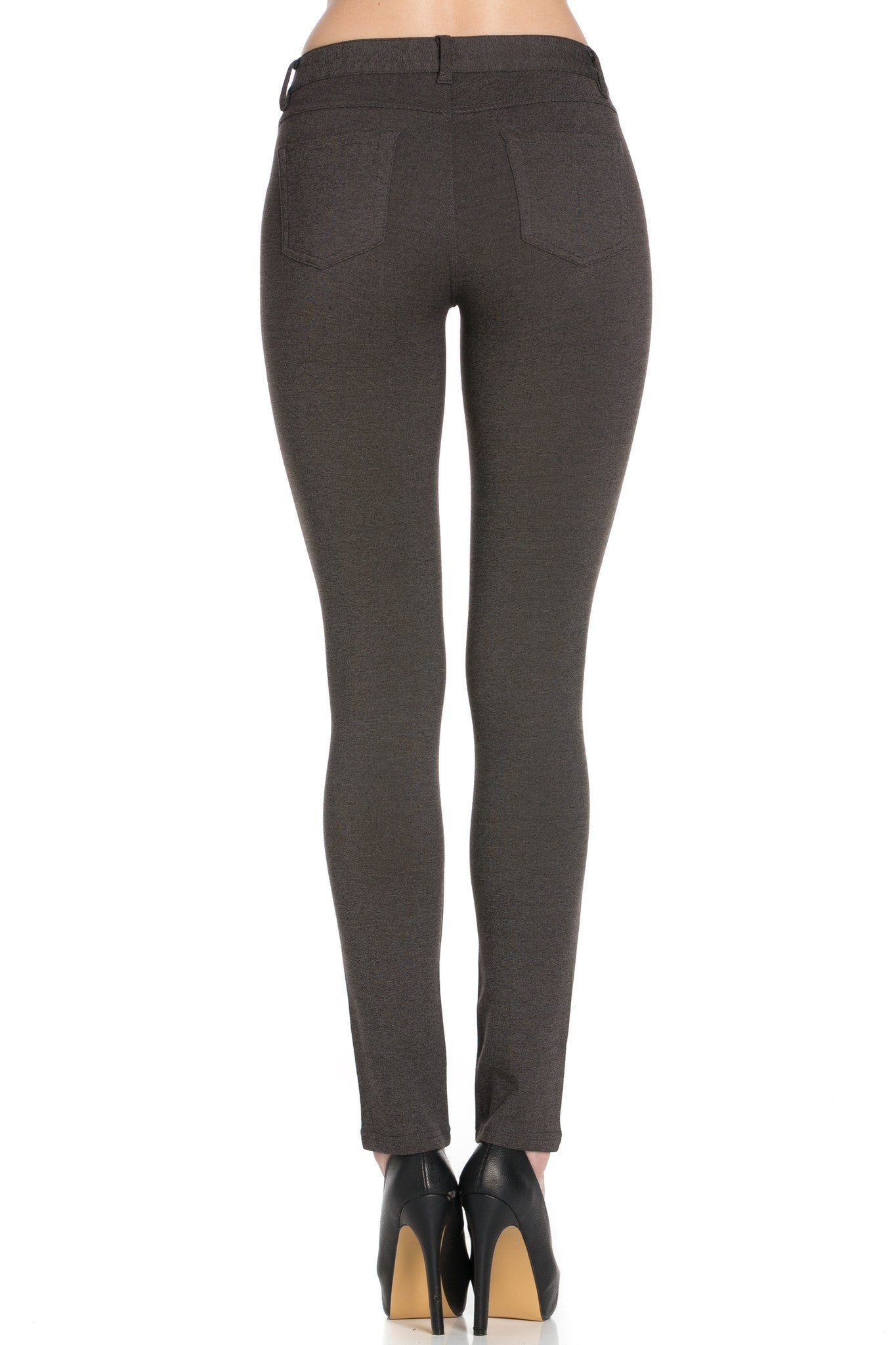 Basic Slim Fit Pants (Charcoal) - Poplooks