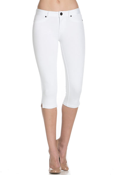 White Ponte Capri pants - Poplooks