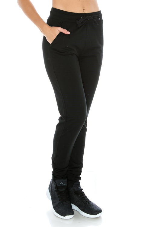 Black Fitted Unisex Workout Sweatpants