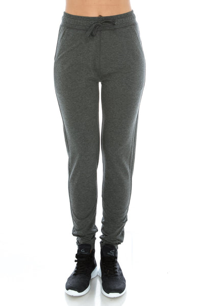 H. Charcoal Fitted Workout Yoga Sweatpants - Poplooks