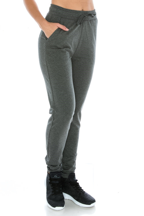 Charcoal Fitted Unisex Workout Sweatpants