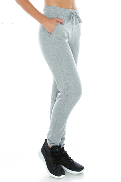 H. Grey Fitted Workout Yoga Sweatpants - Poplooks