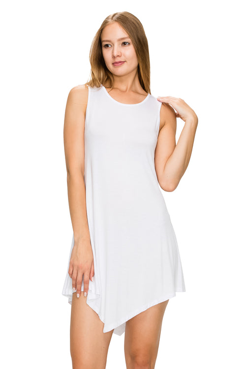 White Sleeveless Tank Tunic