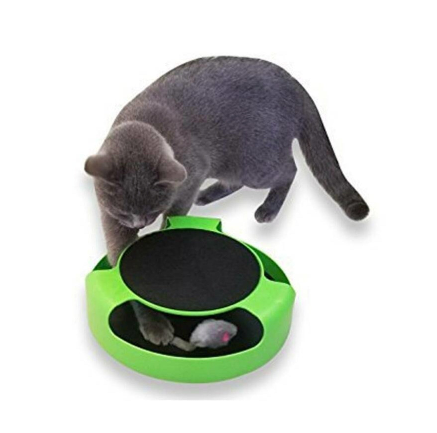 Catch The Mouse Pet Cat Motion Game With Scratch Pad Plush Moving Claw
