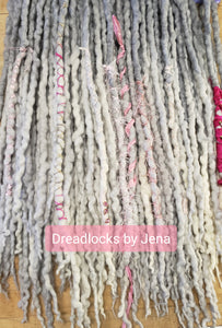 Double End Wool Dreadlocks set of 50