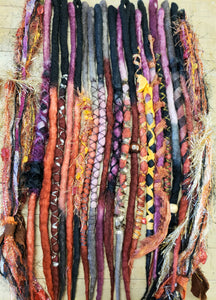 Single Ended Dreadlock set of 20 Ready to ship Dreadlock Extensions