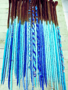 Single Ended Wool Dreadlock set of 40
