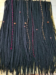 Double Ended Wool Dreadlock set 50