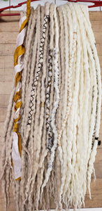 Double Ended Wool Dreadlock set of 40