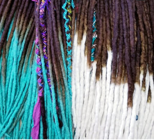 Double Ended Wool Dreadlock set of 50
