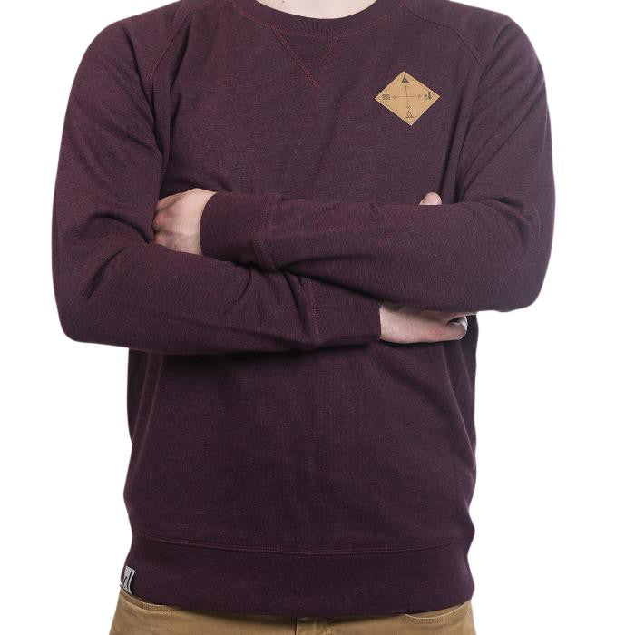 "Ecolodge | Herren Sweater ""Snappy Guy"" heather grape red"