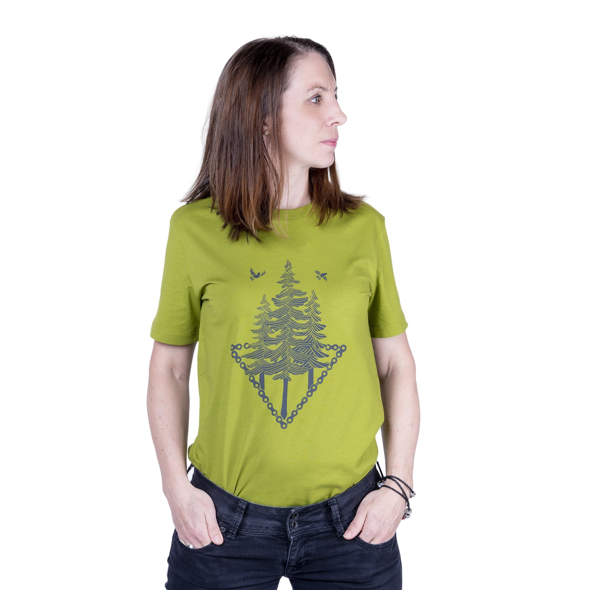 "Ecolodge | Damen T- Shirt ""Trail"" moss green"