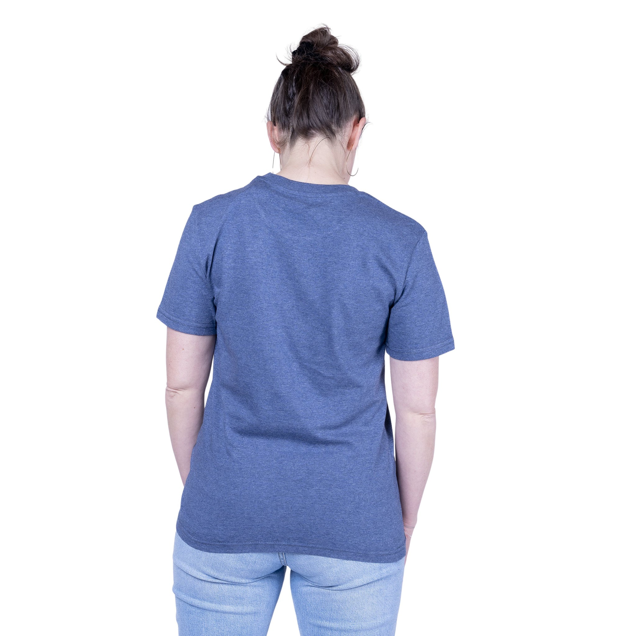 "Ecolodge | Damen T- Shirt ""Cozy"" dark heather blue"
