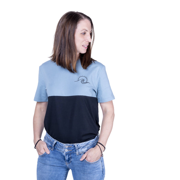 "Ecolodge | Damen T- Shirt ""TwoSides"" citadel blue/black"