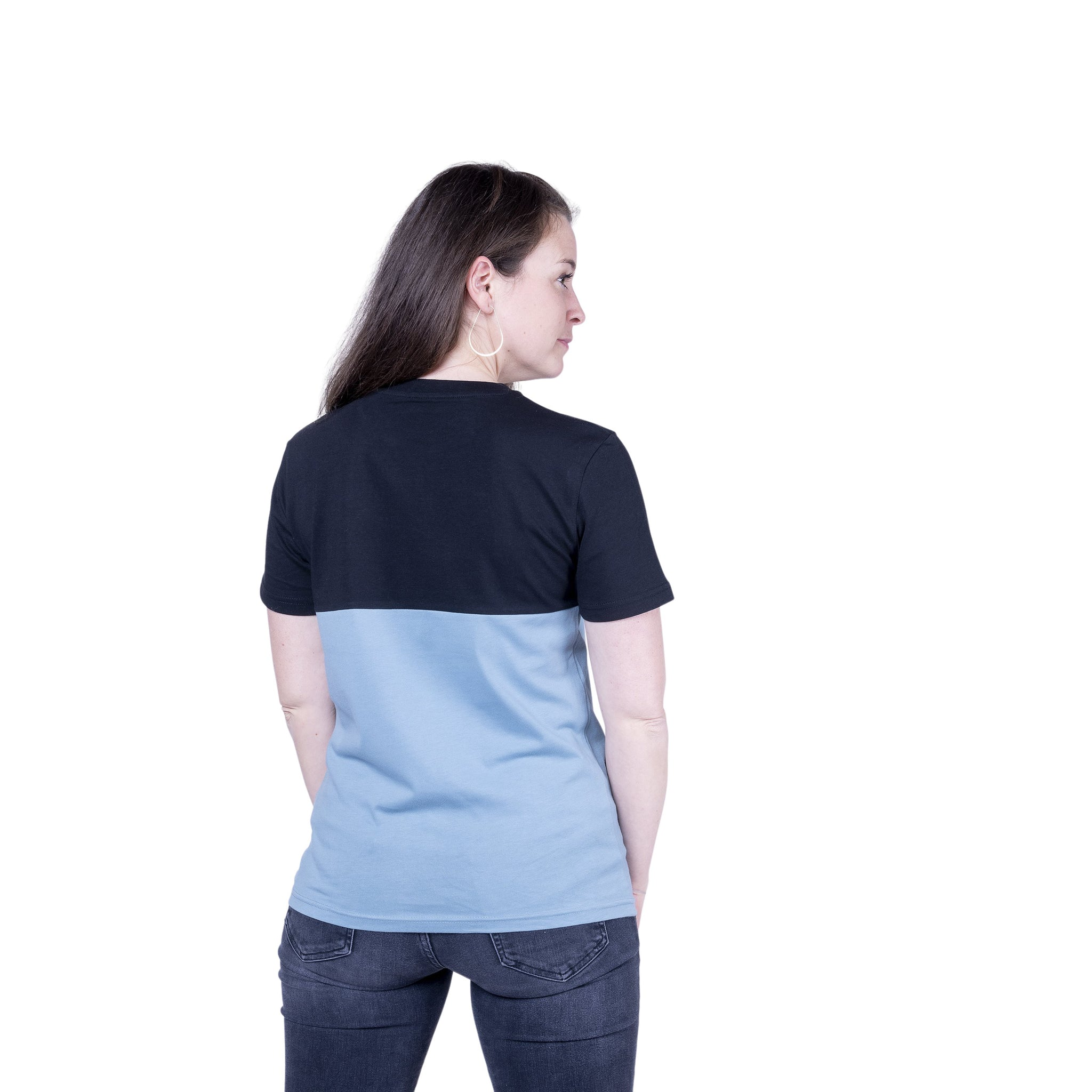 "Ecolodge | Damen T- Shirt ""TwoSides"" black/citadel blue"