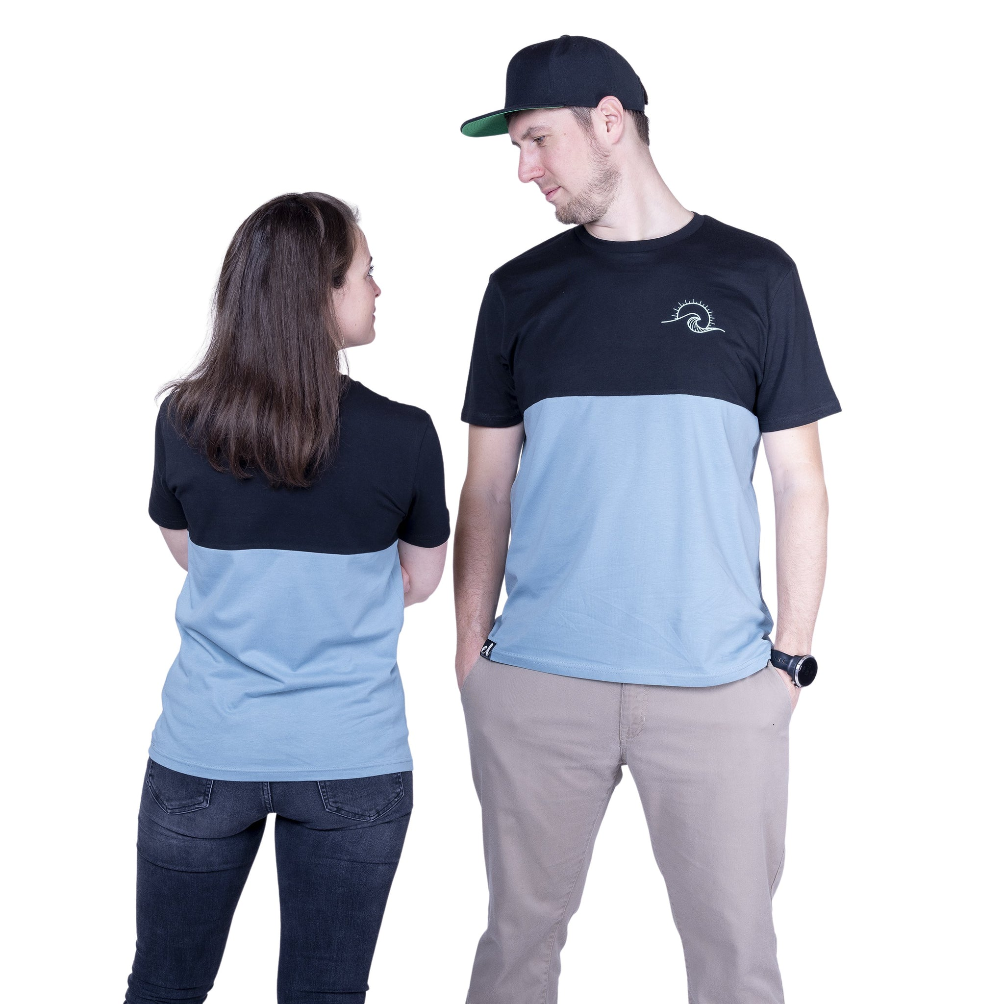 "Ecolodge | T- Shirt ""TwoSides"" black/citadel blue"