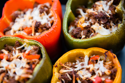 Spicy Mama BBQ Rubbed Stuffed Peppers