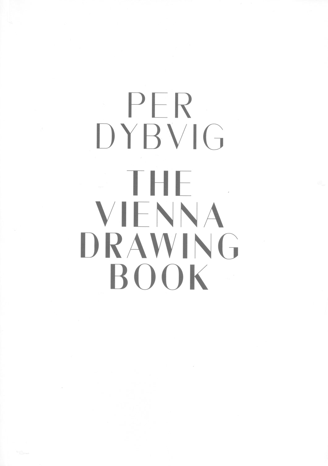Per Dybvig, The Vienna Drawing Book