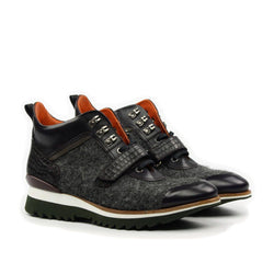 STRAP MULTI TEXTURED SNEAKER BOOT - Q by QS