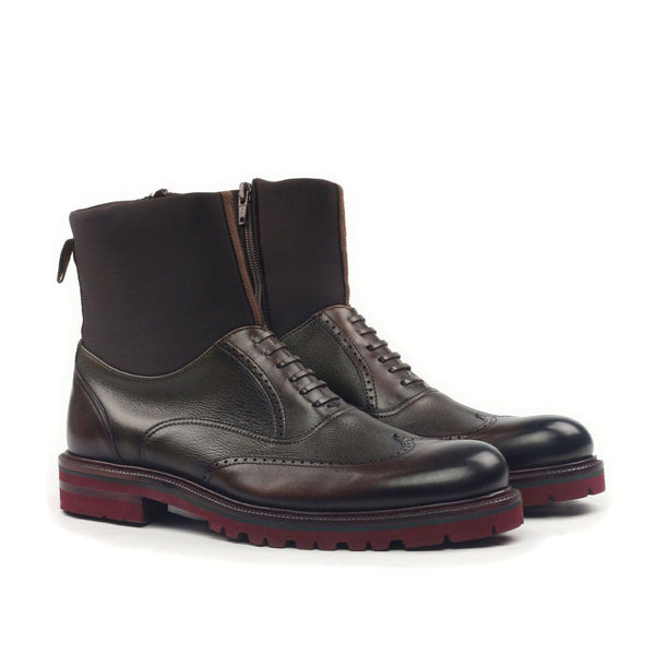 MULTI TEXTURED WINGTIP BOOT