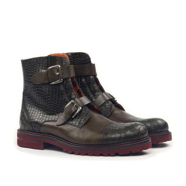 ENGRAVED CAP TOE DOUBLE STRAP CROC BOOT