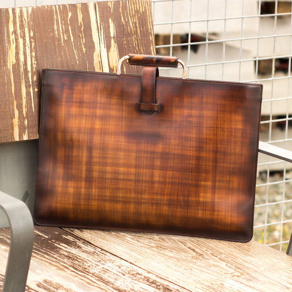 Xander Satchel Patina Bag