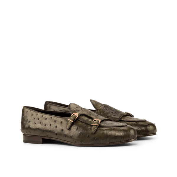 Divo Ostrich Monk Slipper