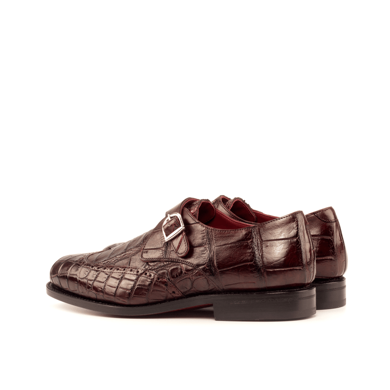 Greorgia Alligator Single Monk Shoes - Q by QS