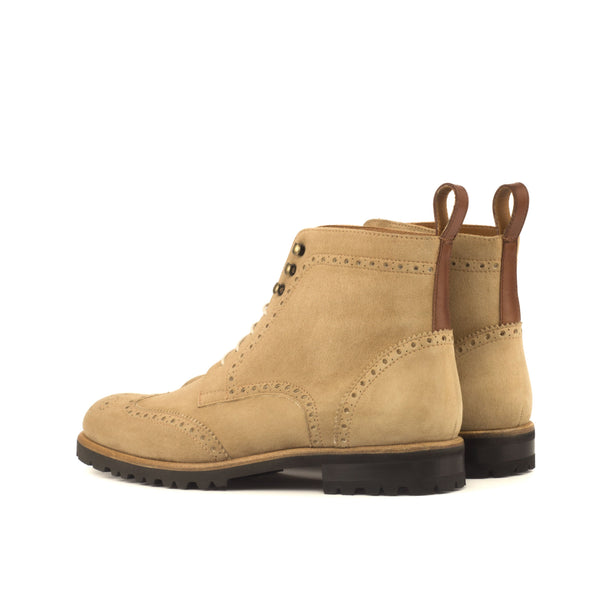 Mayas Ladies Military Brogue Boots
