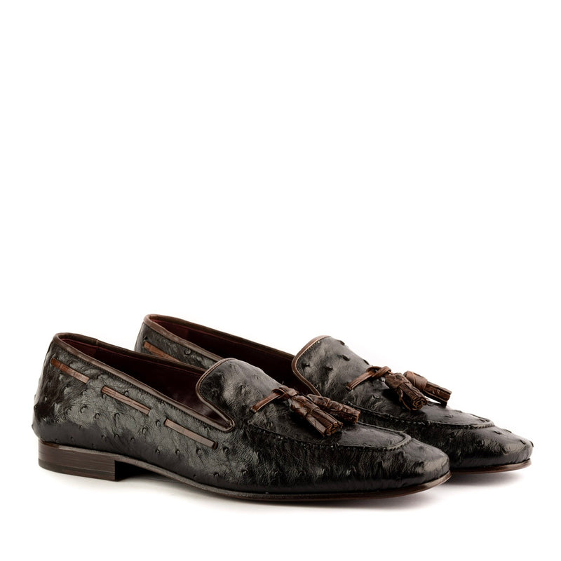 Cyrus Ostrich Loafers - Q by QS
