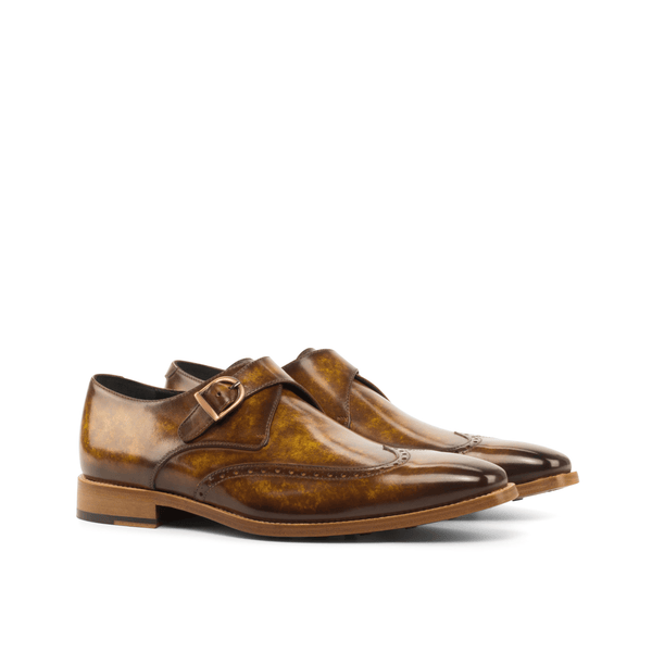 Fire Patina Single Monk Shoes