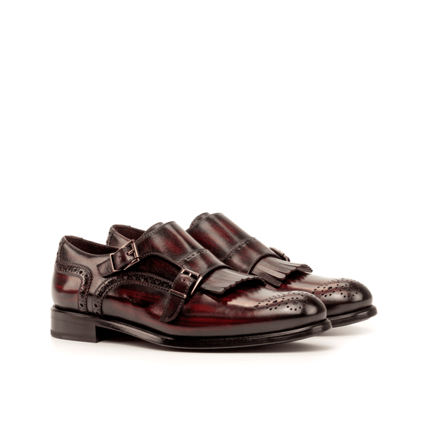 Amina Kiltie ladies Monk Strap Patina