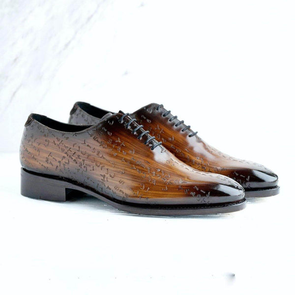 Arabic Matrix Patina Wholecut Shoes