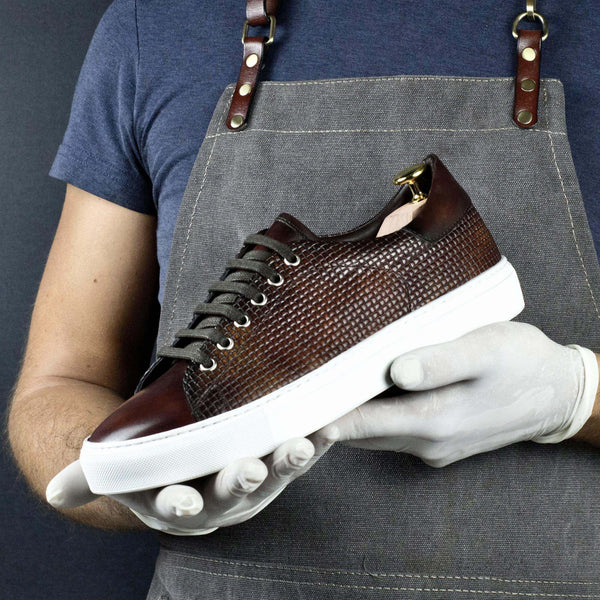 Copa Braided Patina Sneaker - Q by QS