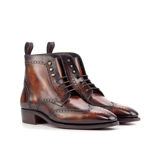 Silo Patina Military Brogue Boots