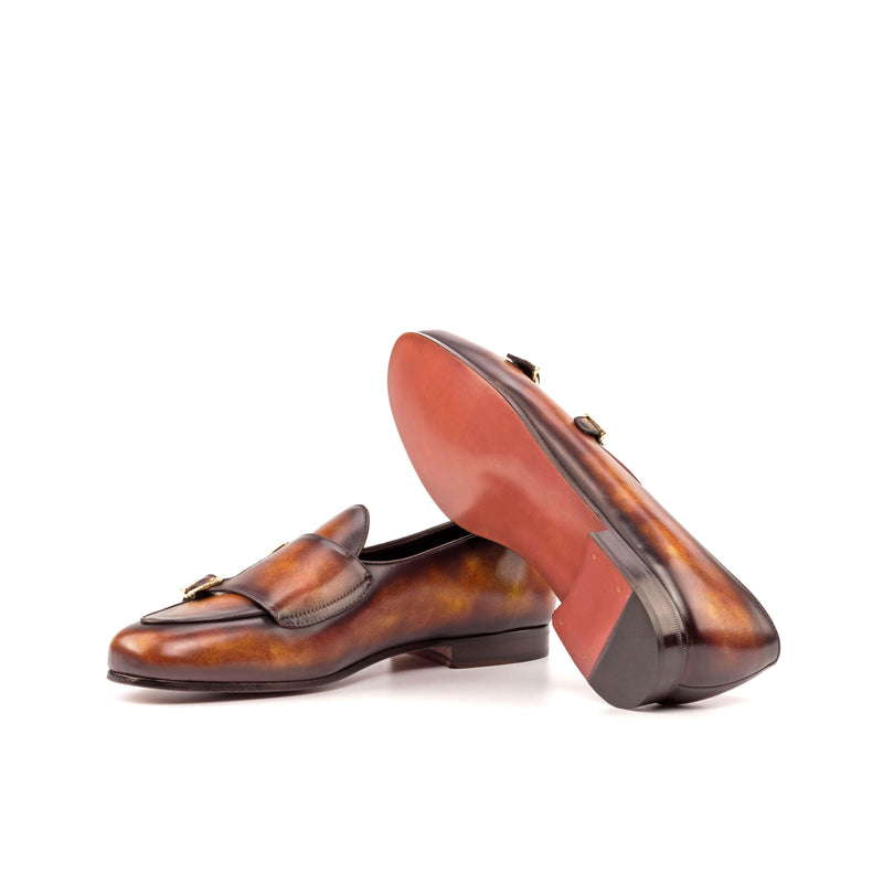 Dan Belgian Patina Monk Slipper