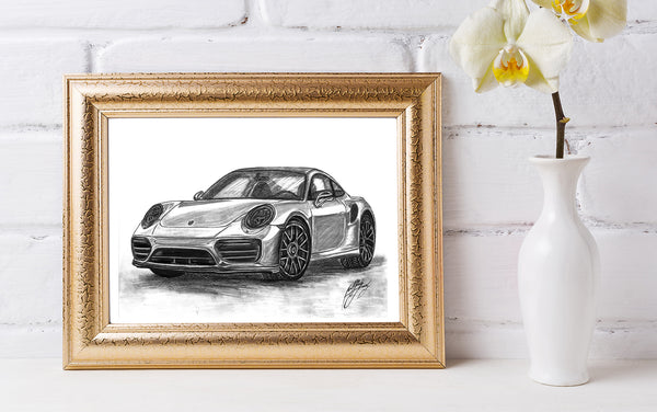Porsche Car Digital Download File