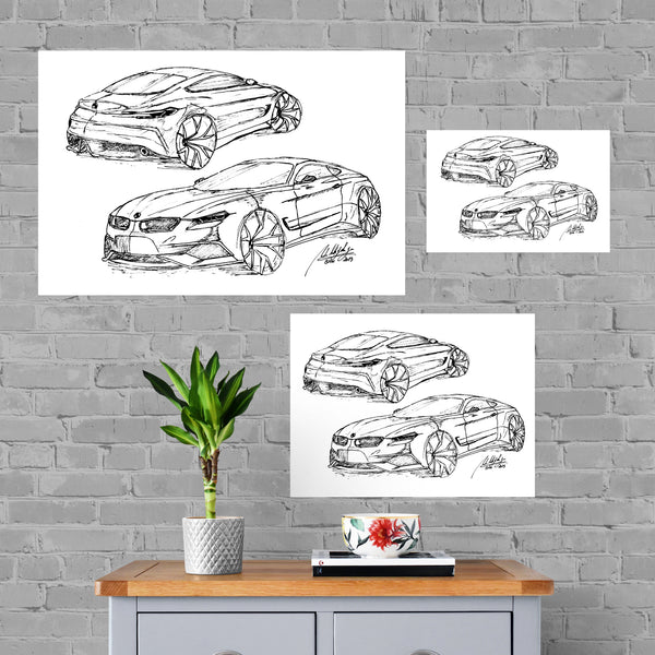 BMW Sketch Limited Edition Canvas Print