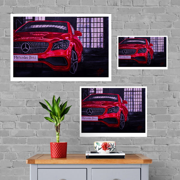 Mercedes Painting Limited Edition Canvas Print